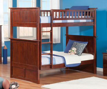 Nantucket Bunk Bed Antique Walnut | Atlantic Furniture | ATL-AB59104