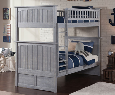 Nantucket Bunk Bed Driftwood Grey | Atlantic Furniture | ATL-AB59108
