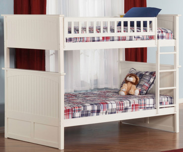 Nantucket Bunk Bed Full over Full White | Atlantic Furniture | ATL-AB59502