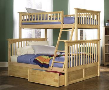 Columbia Twin over Full Bunk Bed Natural | Atlantic Furniture | ATLCOL-TF-NM
