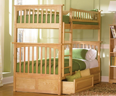 Columbia Bunk Bed Natural Maple | Atlantic Furniture | ATLCOL-TT-NM