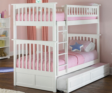 Columbia Bunk Bed White | Atlantic Furniture | ATLCOL-TT-W