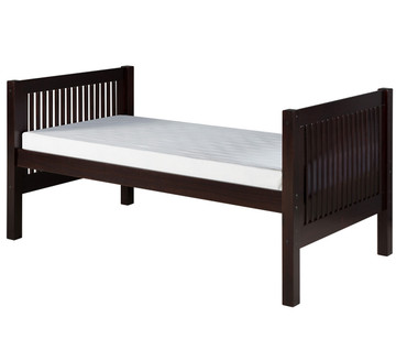Camaflexi High Platform Bed Twin Size Cappuccino | Camaflexi Furniture | CF-E1012