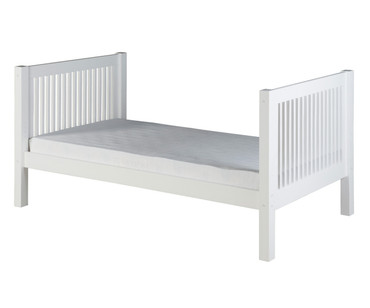 Camaflexi High Platform Bed Twin Size White | Camaflexi Furniture | CF-E1013