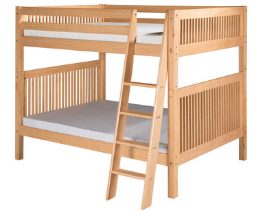 Camaflexi High Bunk Bed Full Size Natural 1 | Camaflexi Furniture | CF-E1611A