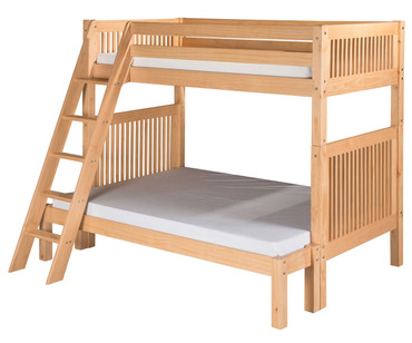 Camaflexi High Bunk Bed Twin over Full Size Natural | Camaflexi Furniture | CF-E1711A