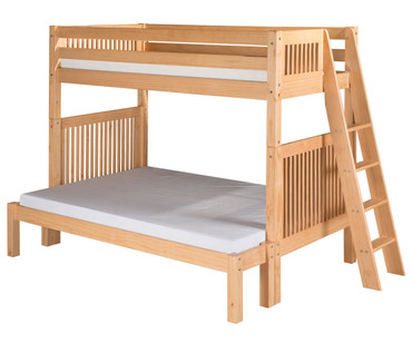Camaflexi High Bunk Bed Twin over Full Size Natural 1 | Camaflexi Furniture | CF-E1711L