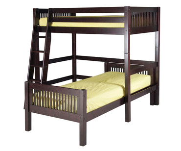 Camaflexi L-Shaped High Loft Bed Twin Size Cappuccino | Camaflexi Furniture | CF-E1812