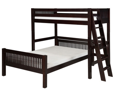 Camaflexi L-Shaped High Loft Bed Twin over Full Size Cappuccino | Camaflexi Furniture | CF-E1912L