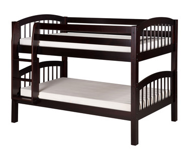 Camaflexi Low Bunk Bed Twin Size Cappuccino | Camaflexi Furniture | CF-E2002