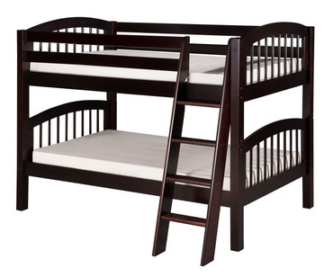 Camaflexi Low Bunk Bed Twin Size Cappuccino 1 | Camaflexi Furniture | CF-E2002A