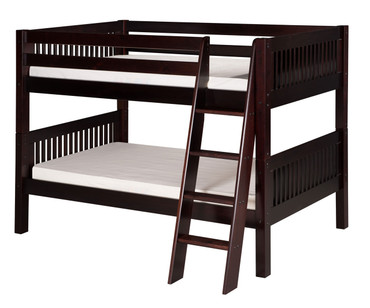 Camaflexi Low Bunk Bed Twin Size Cappuccino 3 | Camaflexi Furniture | CF-E2012A