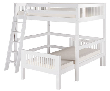 Camaflexi L-Shaped High Loft Bed Full over Twin Size White | Camaflexi Furniture | CF-E2113