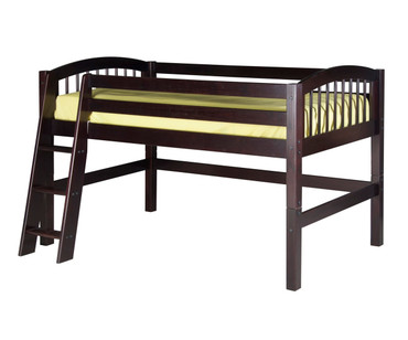 Camaflexi Low Loft Bed Twin Size Cappuccino | Camaflexi Furniture | CF-E402