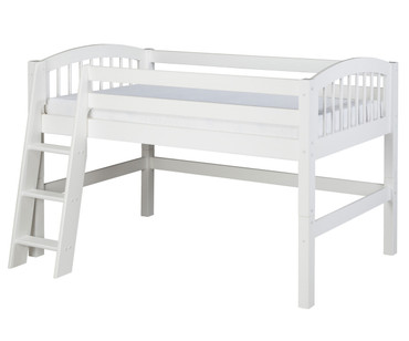 Camaflexi Low Loft Bed Twin Size White | Camaflexi Furniture | CF-E403