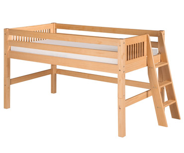 Camaflexi Low Loft Bed Twin Size Natural 1 | Camaflexi Furniture | CF-E411L