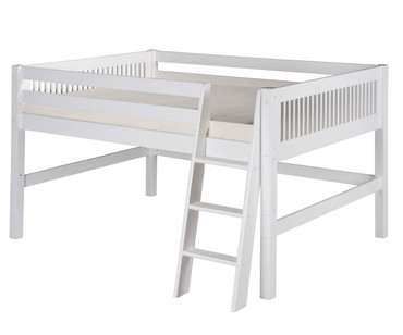 Camaflexi Low Loft Bed Full Size White | Camaflexi Furniture | CF-E413F