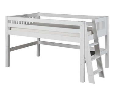 Camaflexi Low Loft Bed Twin Size White 2 | Camaflexi Furniture | CF-E413L