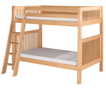 Camaflexi High Bunk Bed Twin Size Natural 1 | Camaflexi Furniture | CF-E911A