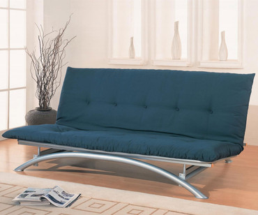 Coaster Silver Metal Futon Sofa | Coaster Furniture | CS300008