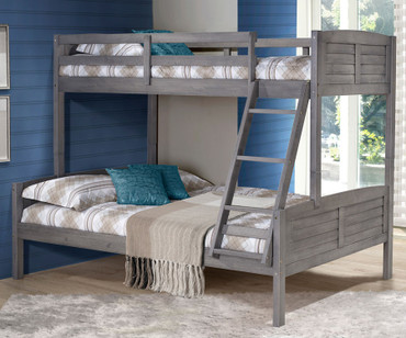 Louver Bunk Bed Twin over Full | Donco Trading | DT2012TFAG