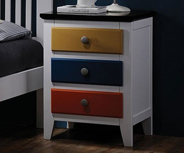 Colorful 3 Drawer Nightstand | Donco Trading | DT993C