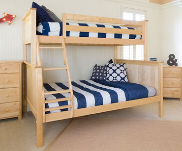 Jackpot Twin over Full Bunk Bed Natural | Jackpot Kids Furniture | JACKPOT-710100TF-001