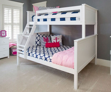 Jackpot Twin over Full Bunk Bed White | Jackpot Kids Furniture | JACKPOT-710100TF-002
