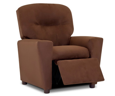 Kidz World Recliner Designer Fabric Chocolate Suede | Kidz World | KW1300-CHS
