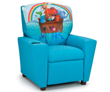 Kidz World Recliner Noahs Ark Blue | Kidz World | KW1300-NAB