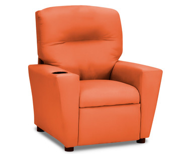 Kidz World Recliner Designer Fabric Orange Suede | Kidz World | KW1300-OS