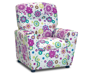 Kidz World Recliner Designer Fabric Secret Gardan Spring Suede | Kidz World | KW1300-SGS