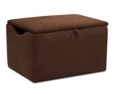 Kidz World Storage Box Designer Fabric Chocolate Suede | Kidz World | KW1400-CHS