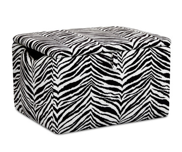 Kidz World Storage Box Designer Fabric Tunisia Black and White | Kidz World | KW1400-TBW