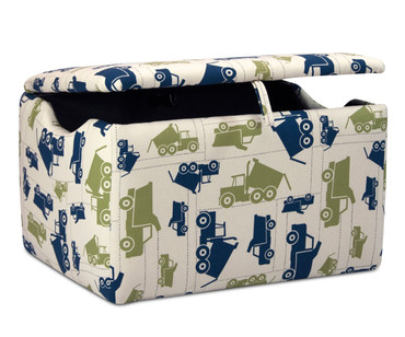 Kidz World Storage Box Designer Fabric Toy Trucks Felix | Kidz World | KW1400-TTF