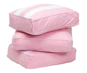 Maxtrix Back Pillows - Set of Three - Soft Pink/White | Maxtrix Furniture | MX-3740-023