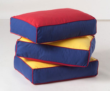 Maxtrix Back Pillows - Set of Three - Blue/Red/Yellow | Maxtrix Furniture | MX-3740-029