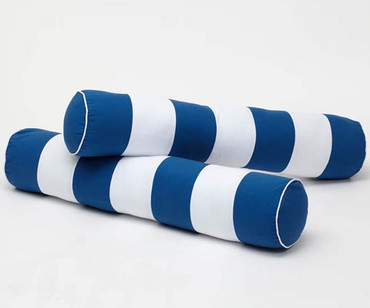 Maxtrix Bolsters - Pair - Blue/White Stripe | Maxtrix Furniture | MX-3760-032