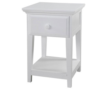 Maxtrix 1 Drawer Nightstand White | Maxtrix Furniture | MX-4210-W