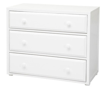 Maxtrix 3 Drawer Dresser White | Maxtrix Furniture | MX-4230-W