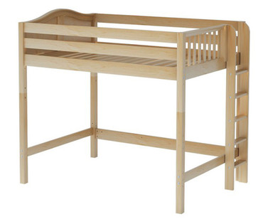 Maxtrix BULKY High Loft Bed Full Size Natural | Maxtrix Furniture | MX-BULKY-NX