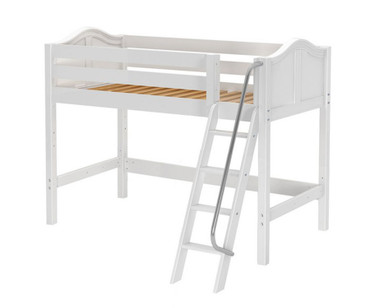 Maxtrix CHAP Mid Loft Bed Twin Size White | Maxtrix Furniture | MX-CHAP-WX