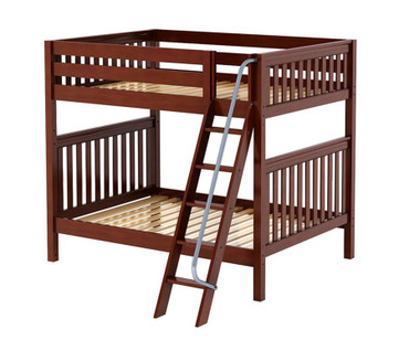 Maxtrix CHUFF High Bunk Bed Full Size Chestnut | Maxtrix Furniture | MX-CHUFF-CX