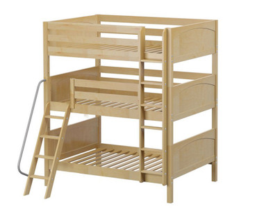 Maxtrix COMPLEX Triple Bunk Bed Full Size Natural | Maxtrix Furniture | MX-COMPLEX-NX