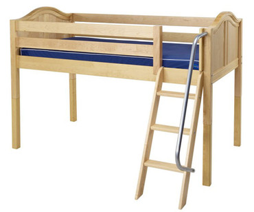 Maxtrix EASY RIDER Low Loft Bed Twin Size Natural | Maxtrix Furniture | MX-EASYRIDER-NX