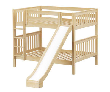 Maxtrix HIPHIP Medium Bunk Bed w/ Slide Full Size Natural | Maxtrix Furniture | MX-HIPHIP-NX