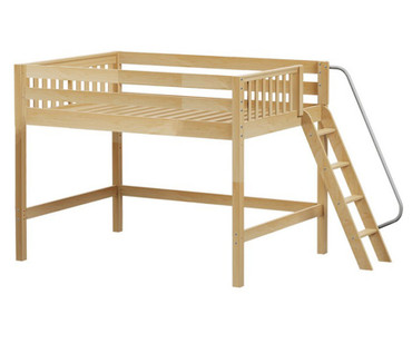 Maxtrix HOP Mid Loft Bed Full Size Natural | Maxtrix Furniture | MX-HOP-NX