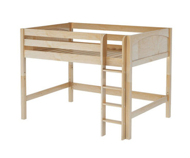Maxtrix KING Mid Loft Bed Full Size Natural | Maxtrix Furniture | MX-KING-NX