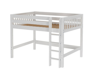 Maxtrix KING Mid Loft Bed Full Size White | Maxtrix Furniture | MX-KING-WX