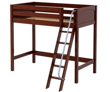 Maxtrix KNOCKOUT High Loft Bed Twin Size Chestnut | Maxtrix Furniture | MX-KNOCKOUT-CX